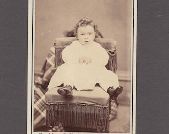 Bradley & Rulofson CDV of a Small Child ~ Amusing Hidden Mother