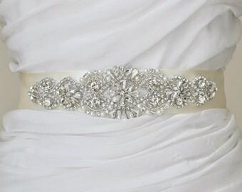 Wedding Sash Bridal Belt Rhinestone Wedding Sash Swarovski