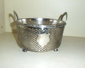 Vintage Sterling Silver Ice Bucket/ Hallmarks /Glass Insert/Basket Weave Pattern/ Cocktail Party/ Christmas Gift /Wedding Gift