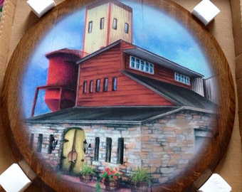 Willett Distillery Inspired Bourbon Barrel Head Print