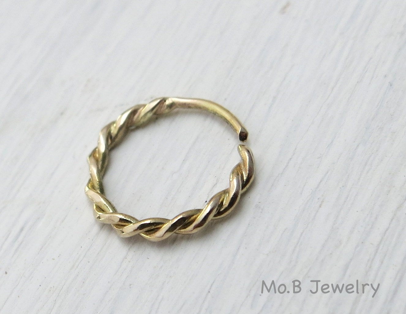 nose ring 14k gold nose ring twisted nose ring by