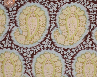 Amy Butler Designer Fabric, Belle Collection, Henna Paisley, BLUE 1 Yard