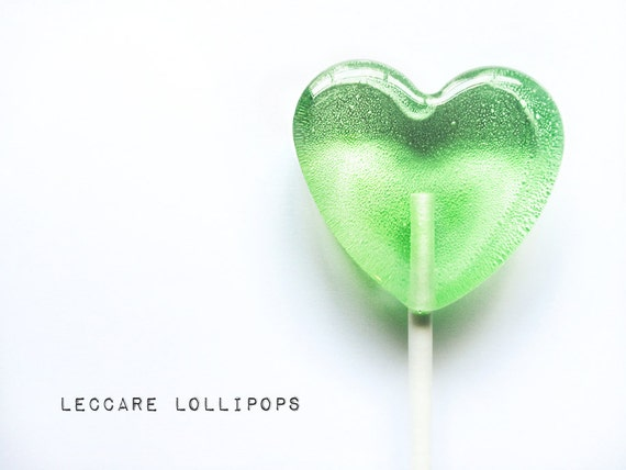 3 Apples & Pear Lollipops // Heart Shape Candy // Made to Order // Fall Wedding Favors