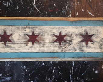 Handcrafted Chicago flag