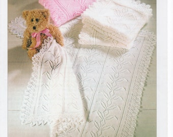 Baby shawl knitting pattern