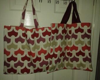 Retro pattern shopping bag/tote