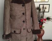 Size Medium Chocolate Sherpa Coat