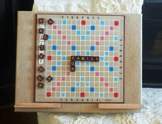 Magnetic Scrabble Board Authentic Scrabble Board By