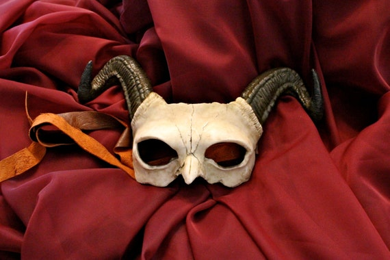 Demon Skull Mask Horned Demon Skull Mask