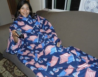 USA American Flag Patriotic Snuggie