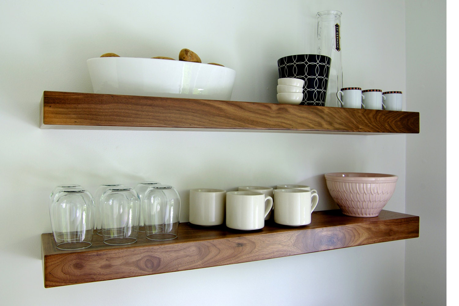 Black Walnut Floating Shelf 48
