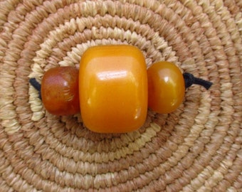 "Antique ""Amber"" Resin Trade Beads"