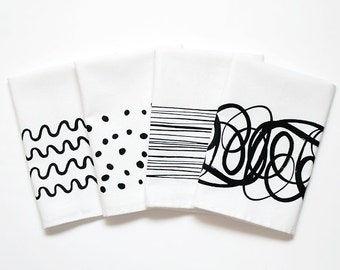 Abstract Napkins - 4 pack
