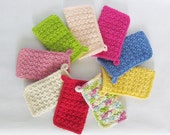 CROCHET PATTERN: textured dish cloth - wash cloth - pot holder - permission to sell finished items - digital download