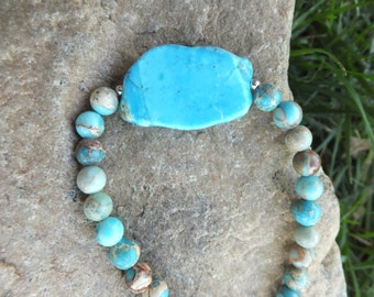 SALE Jasper Turquoise Necklace