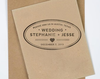 "3 x 1.5"" Oval Wedding Stamp"