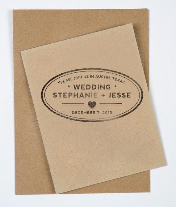 "3 x 1.5"" Oval Wedding Stamp"