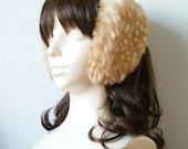 Fawn Faux Fur Earmuffs Headband - Handmade in JAPAN - Made to Order