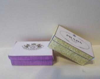 DS-9     Miniature shoe boxes set of 2