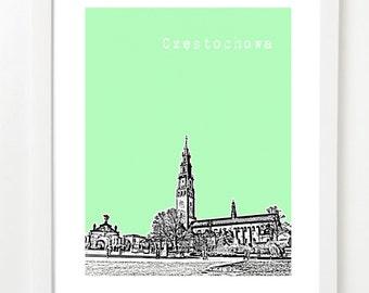 Czestochowa Poland Poster  -Czestochowa  City Skyline Art Print