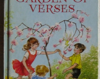 Vintage Childrens Book - A Child's Garden of Verses - Robert Louis Stevenson - A.H. Watson Illustrator - The Children's Press 1968 Reprint