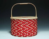 Calabash Clam Basket - red zig zag