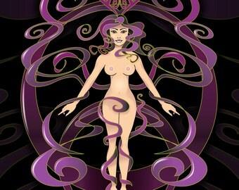 Venus In Ribbons Art Print