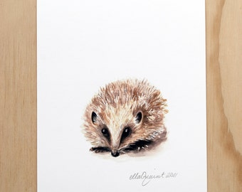 Hedgehog - a Spring Beastie print