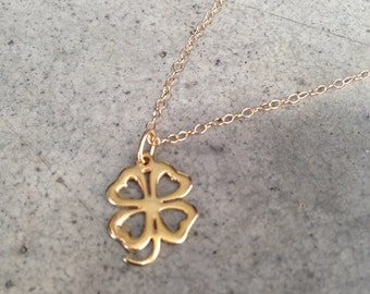 Gold Four Leaf Clover, St. Patrick's Day, Lucky Clover