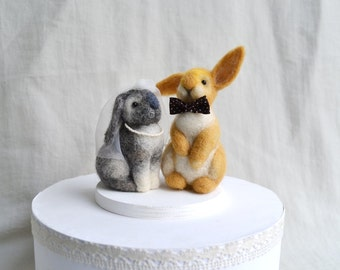 Rabbits Wedding Cake Toppers