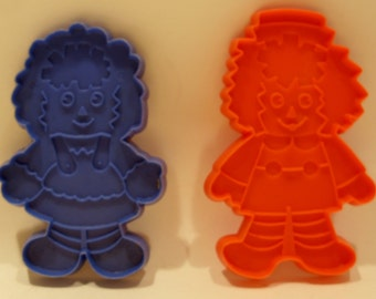 Bobbs-Merrill Vintage Raggedy Ann and Andy Cookie Cutters
