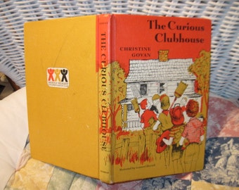 The Curious Clubhouse, by Christine Noble, Hard Cover, Book Vintage Children's Book, Chapter Book, Reading, Preteen Book, : ) s *
