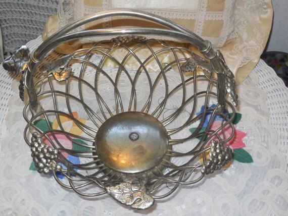 Godinger Silver Art Co Basket : Godinger silver art nice size basket gsa not