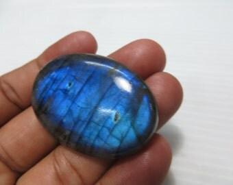 Labradorite Cabochon 115 CRT Big Size Full Flashy  Blue Fire Good  Quality Oval Shape Size 31X46 mm Approx