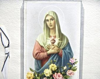 1950s Sympathy Cards x 4, Italian and Australian - Assorted Religious Sympathy, Bereavement Cards x 4, One Italian Medallion