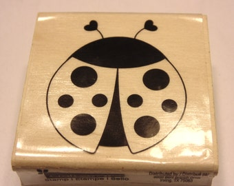 large lady bug rubber stamp, 50 mm