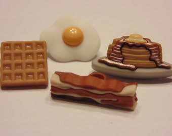 4 piece breakfast button set, 15-25 mm (B9)