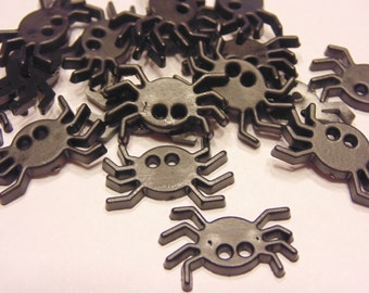 6 flat spider buttons, 20 x 14 mm (5)