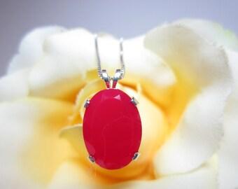 Red Chalcedony Pendant