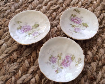 Vintage Floral Butterpats - Set of 3 Butterpats- Mother's Day Gift