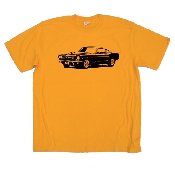 Items similar to mustang t shirt hand screen print race for Marathon t shirt printing
