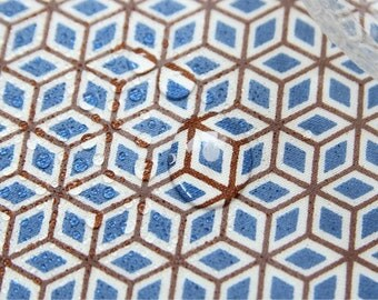 """Laminated Cotton Fabric - Mini Cube - 44"""" Wide - By the Yard 55947"""
