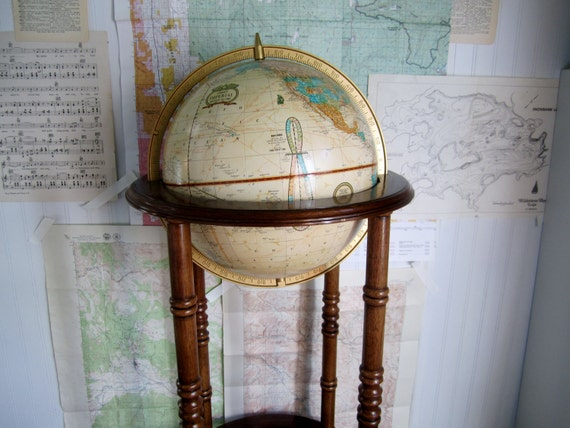 Cram S 12 Inch Imperial World Globe In Wooden Floor Stand