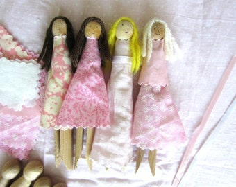 Clothespin Doll Kit - Clothes Pin Doll Kit - Peg Doll Kit
