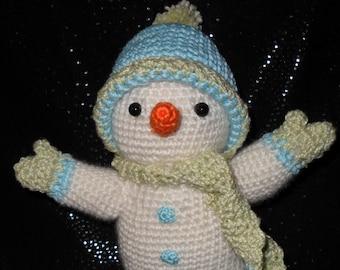 Neige etsy - Bonhomme de neige au crochet ...