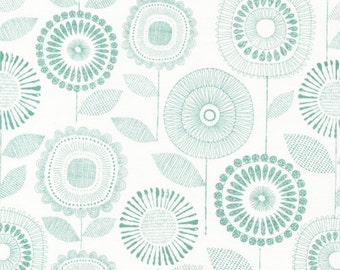 SALE--Shape of Spring--Petal Print--Sage--by Eloise Renouf--Certified Organic Cotton--price is per yard
