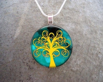 Tree Jewelry - Glass Pendant Necklace - Tree of Life Jewellery - Tree 13 - PRE-ORDER