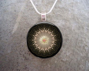Mandala Jewelry - Glass Pendant Necklace - Mandala 41