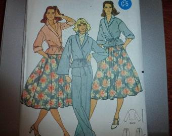 Vintage Quick Butterick Misses' Blouse Pattern 6195 Size 12  UNCUT