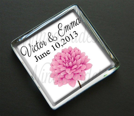items similar to 50 personalized wedding favor magnets With wedding favor magnets personalized